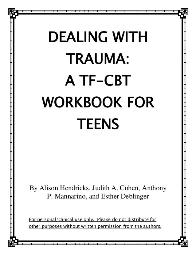 Trauma focused cbt worksheets for adults