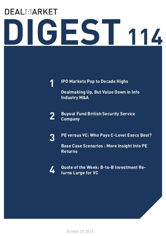 DealMarket DIGEST Issue 114 // 25 October 2013
