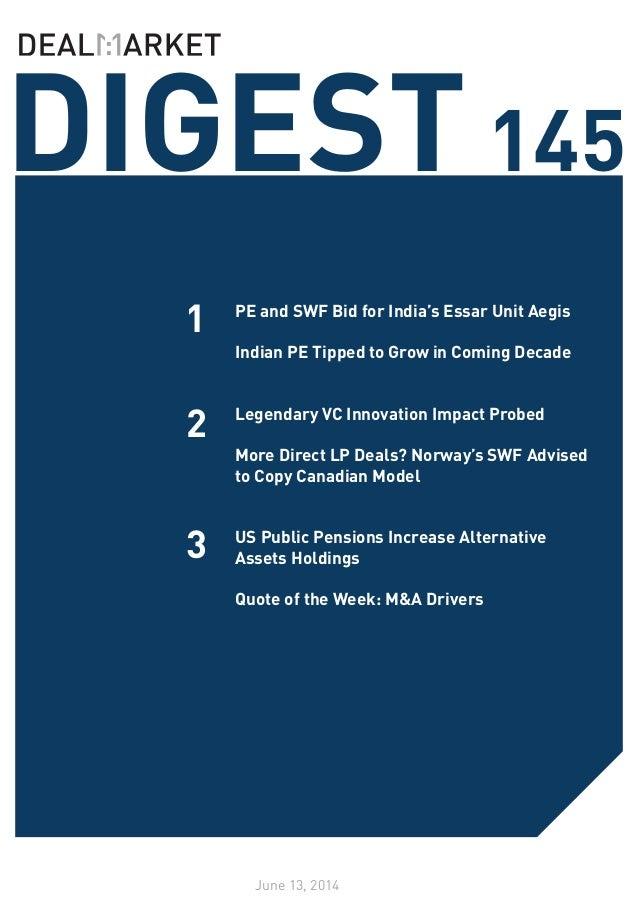 DealMarket Digest Issue145 - 13 June 2014
