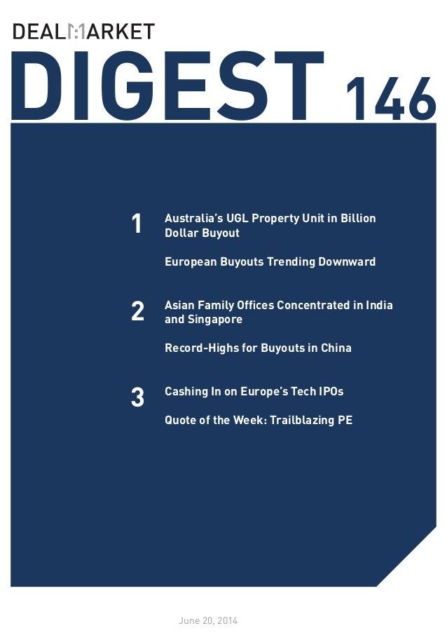 DealMarket Digest Issue 146 - 20 June 2014