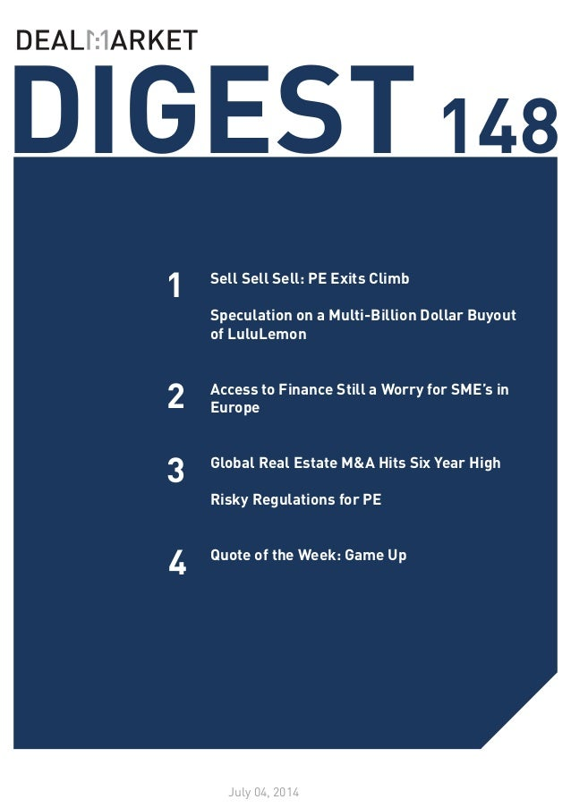 DealMarket Digest Issue148 - 04 July 2014