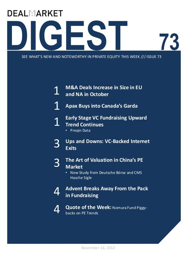 DealMarket Digest Issue73 - 16november2012