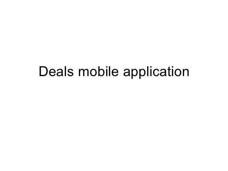Deals mobile application