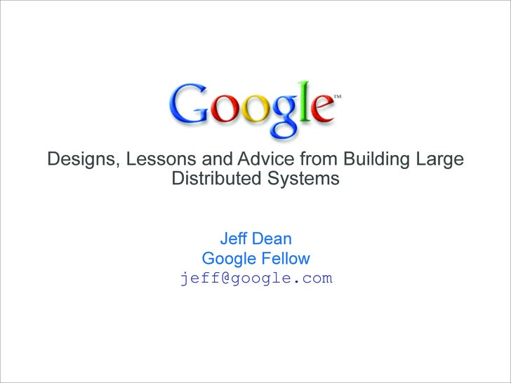 Dean Keynote Ladis2009 Google