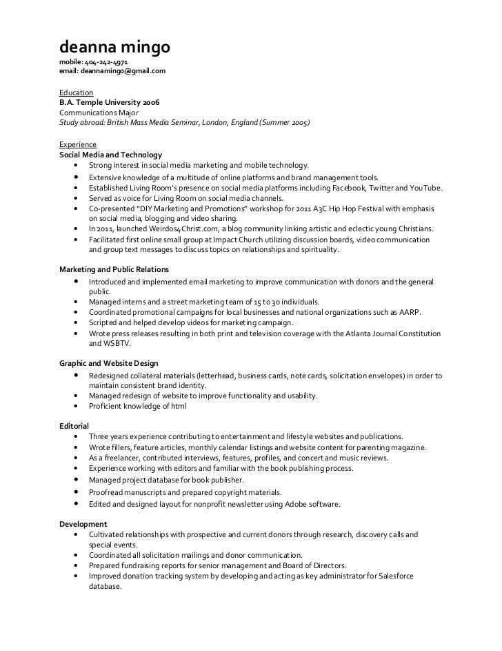 Deanna Mingo Complete Resume