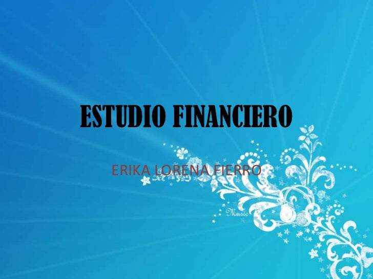 ESTUDIO FINANCIERO<br />ERIKA LORENA FIERRO<br />