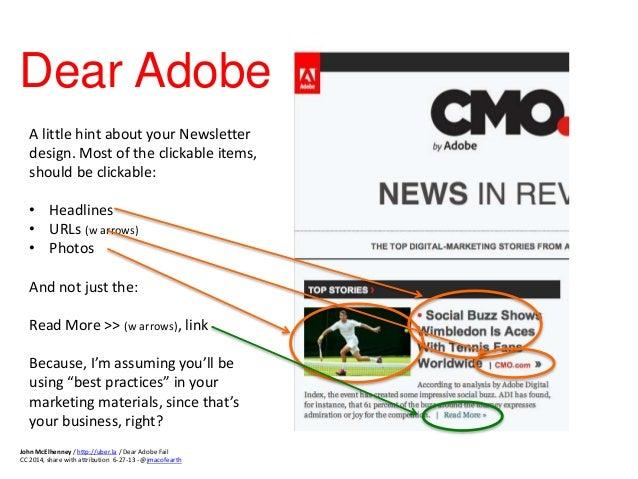 Dear Adobe - Digital Marketing #FAIL