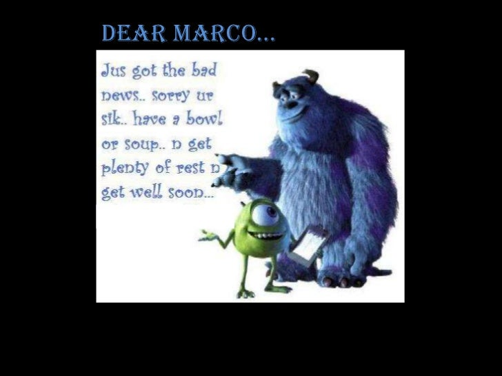 Dear Marco…<br />