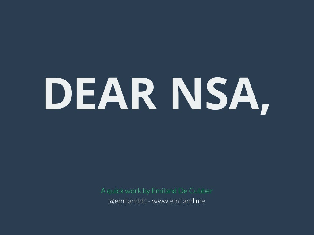 Dear NSA, let me take care of your slides.