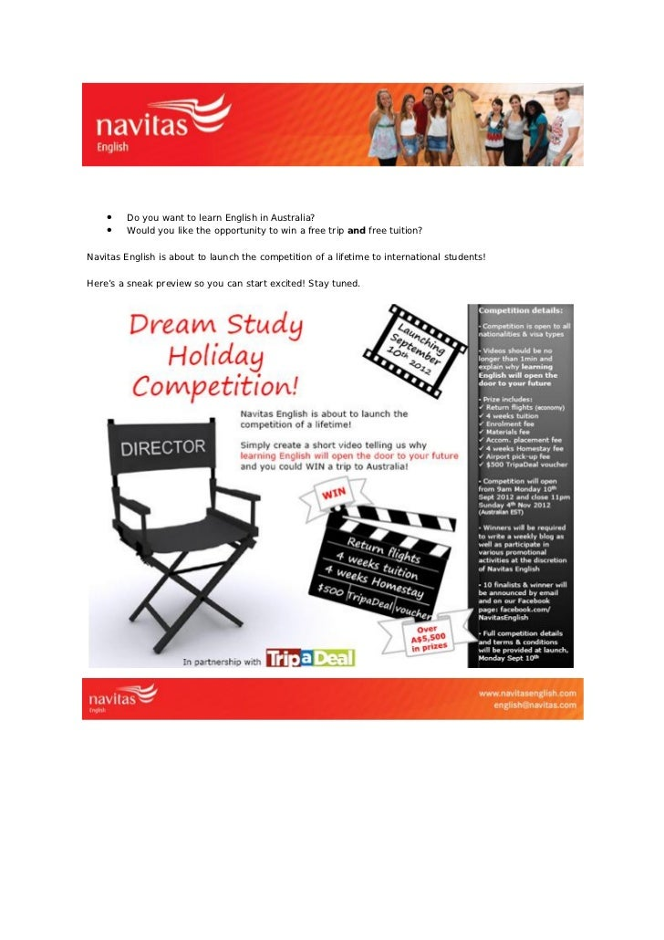 DREAM STUDY HOLIDAY COMPETITION