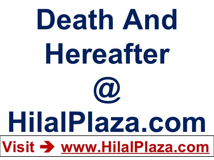 Death And Hereafter @ HilalPlaza.com