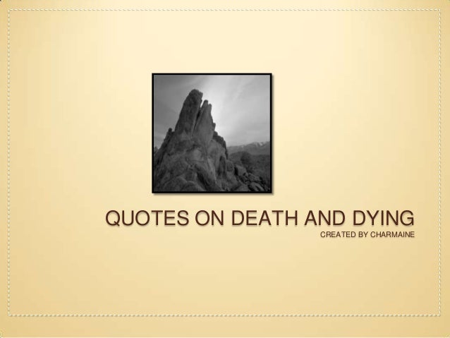 essay about death and dying