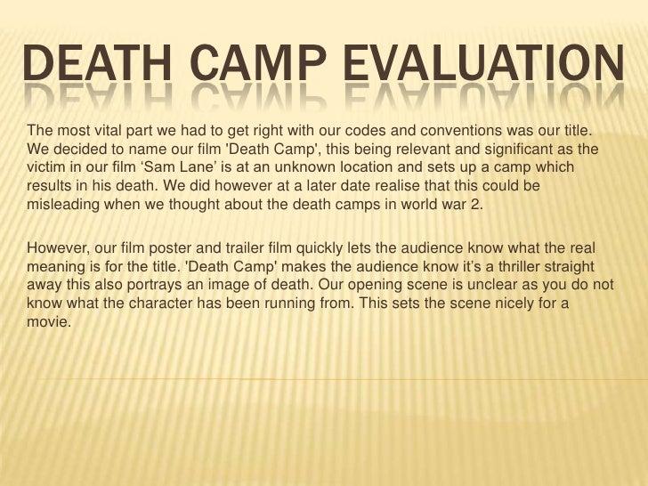 Death Camp Evaluation