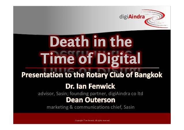 Death in the Time of Digital