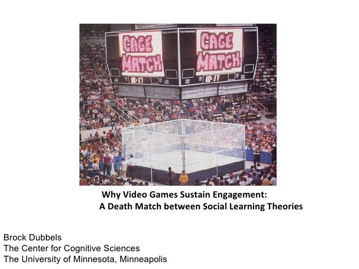 Why Video Games Sustain Engagement:                       A Death Match between Social Learning TheoriesBrock DubbelsThe C...