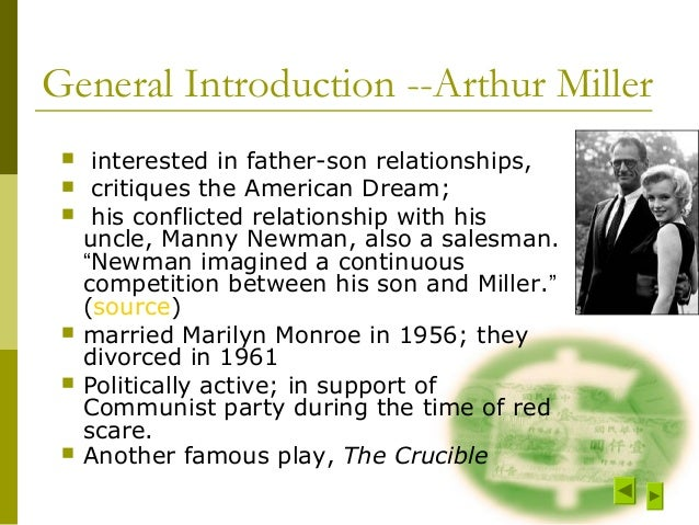 family relationships in death of a salesman by arthur miller