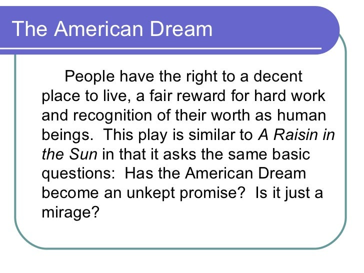 racism and the american dream essay