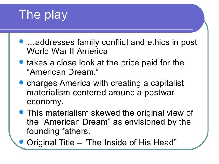 essay about american dream in death of salesman This essay will analyze the meaning of the american dream for each of the main characters in the death of a salesman.