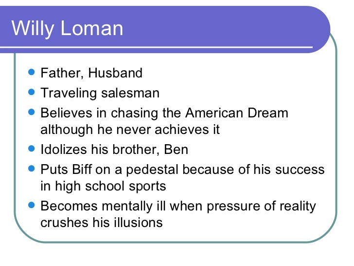 an analysis of willy loman and his unfulfilled dreams and hopes in death of a salesman An analysis of the character of willy loman' wwwthoughtcocom/linda-loman-in-death-of-a-salesman american dream a theme of 'death of a salesman.