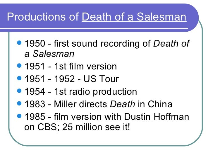 Essay Topics For Death Of A Salesman