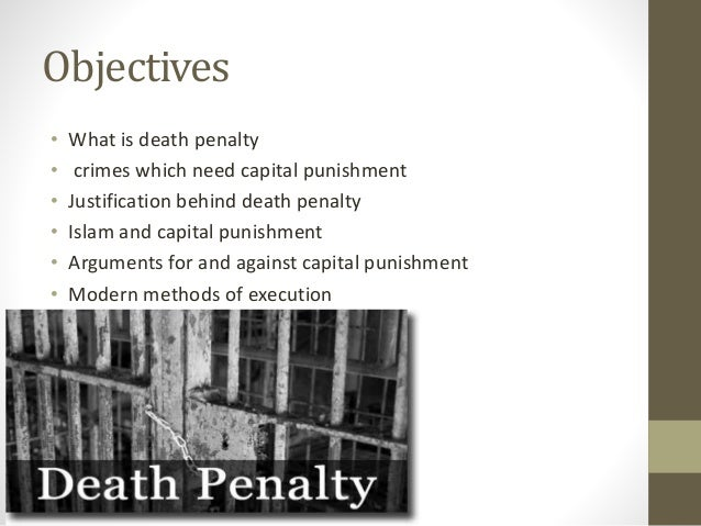 Capital punishment is justifiable