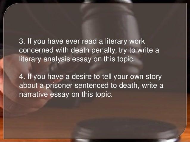 Death penalty essay topics