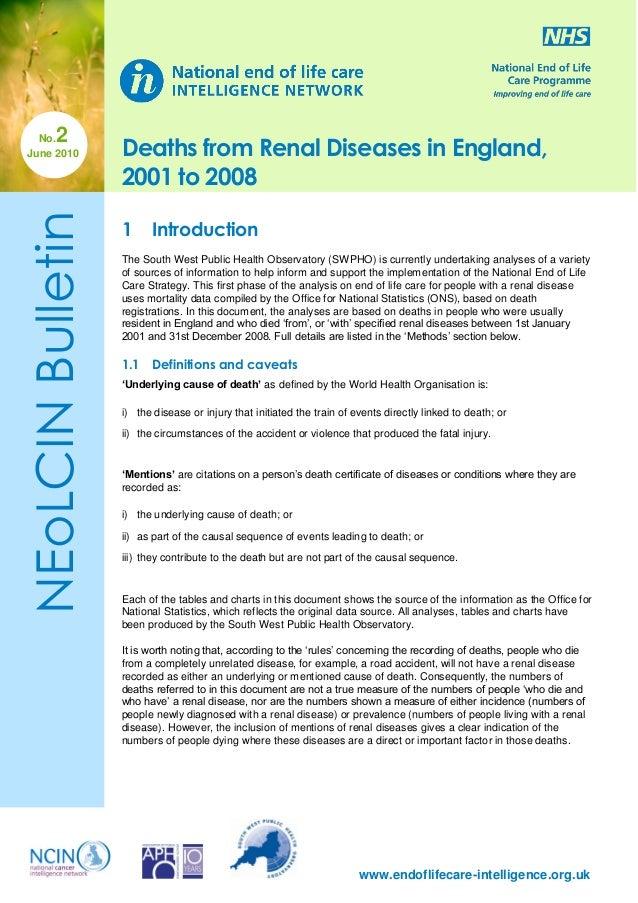 Deaths in Renal Diseases 01-08