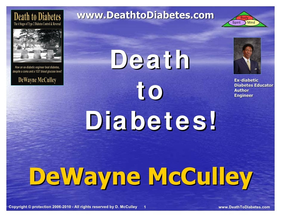 Death to Diabetes Training Program Slides (Samples for Slideshare)