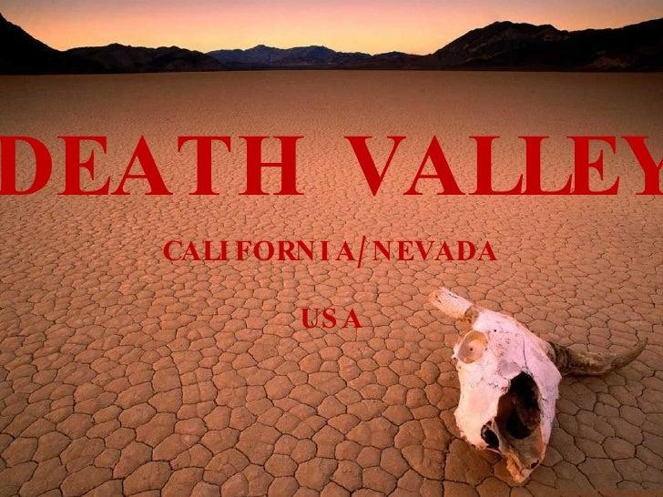 DEATH VALLEY CALIFORNIA/NEVADA USA