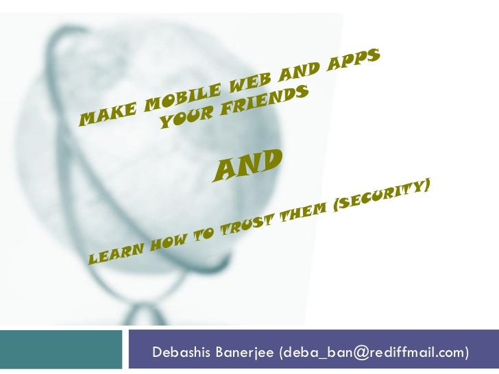 Debashis banerjee mobile_webappintrosecurity