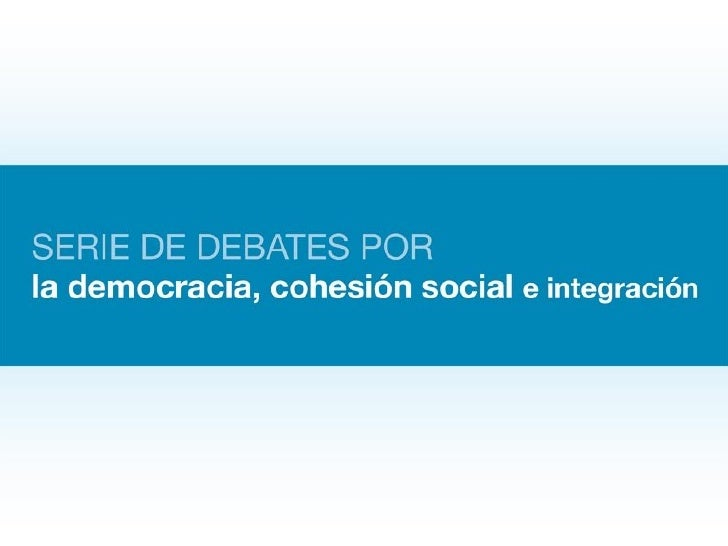 Primer debate: Pobreza y desigualdad