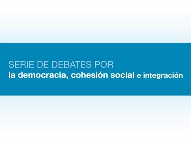 Segundo debate: Crecimiento, desarrollo económico y social