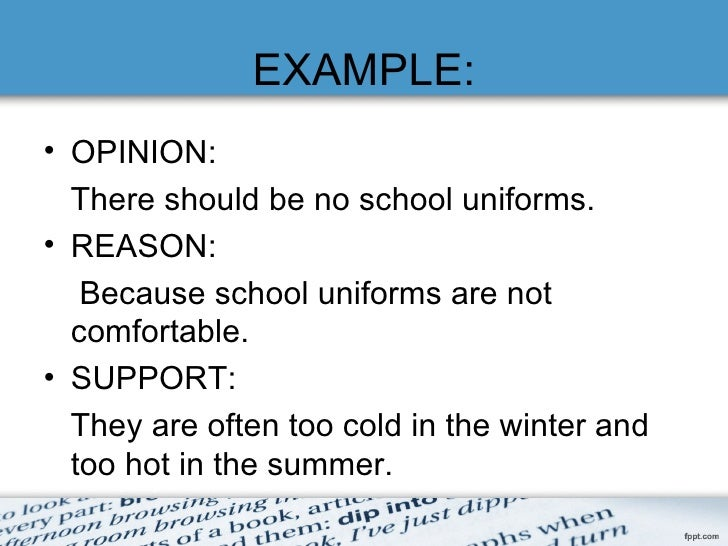 an argument against the idea of all schools should have the same uniform Why school uniforms are a bad idea  many students who are against school  uniforms argue that they lose their  that differences and independent thought  and action should be valued  and straight-up comparisons are not as obvious  as they are when everyone has on exactly the same clothing.