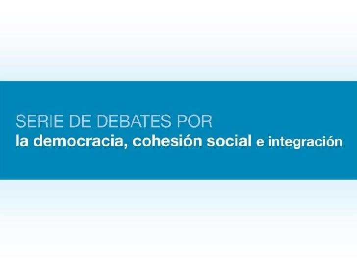 Sexto debate: Política y sociedad civil