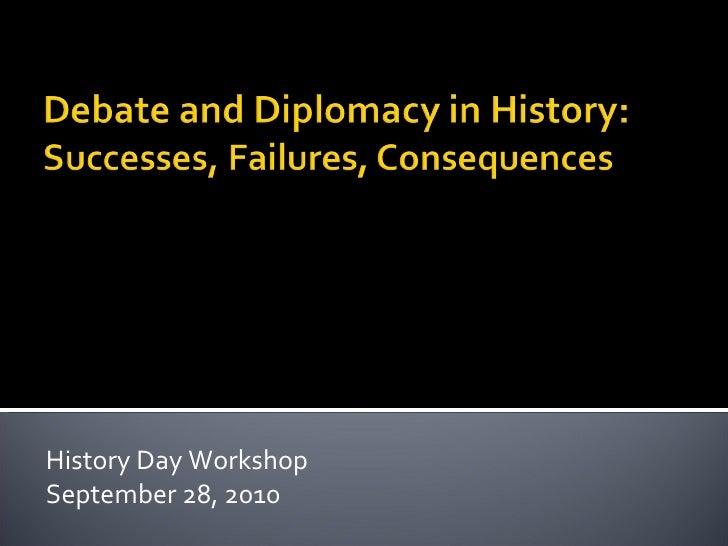 Debate and diplomacy in history