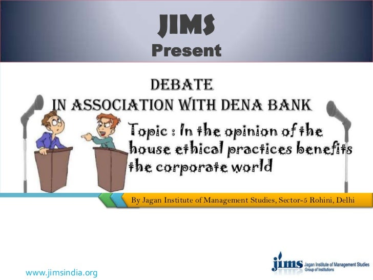Debate competition in association with dena  bank