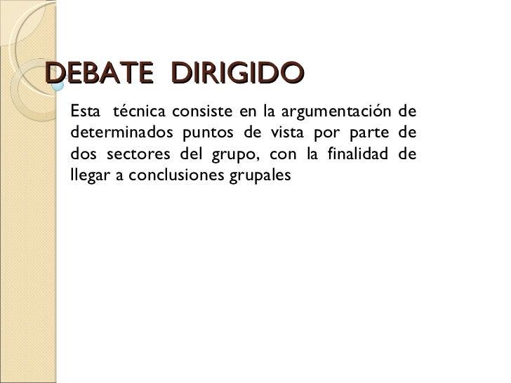 Debate  Dirigido
