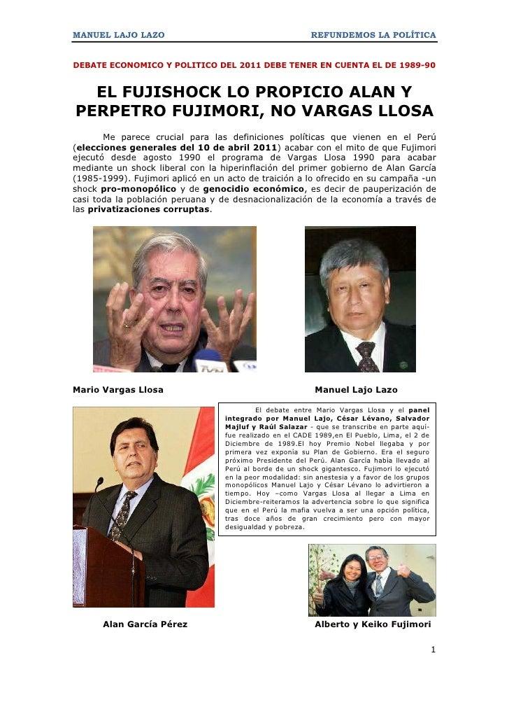 MANUEL LAJO LAZO                                          REFUNDEMOS LA POLÍTICADEBATE ECONOMICO Y POLITICO DEL 2011 DEBE ...