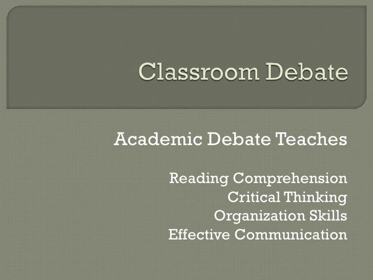 Presentation on Debate