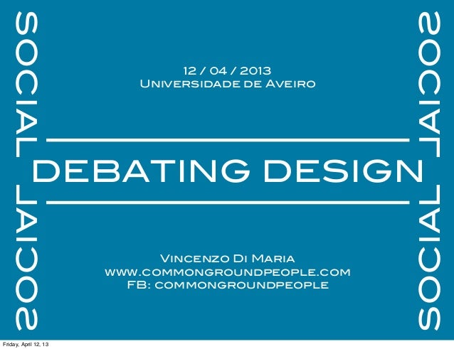 Social Design debate - Aveiro University