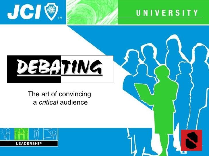 JCI Debating - Speak on your feet