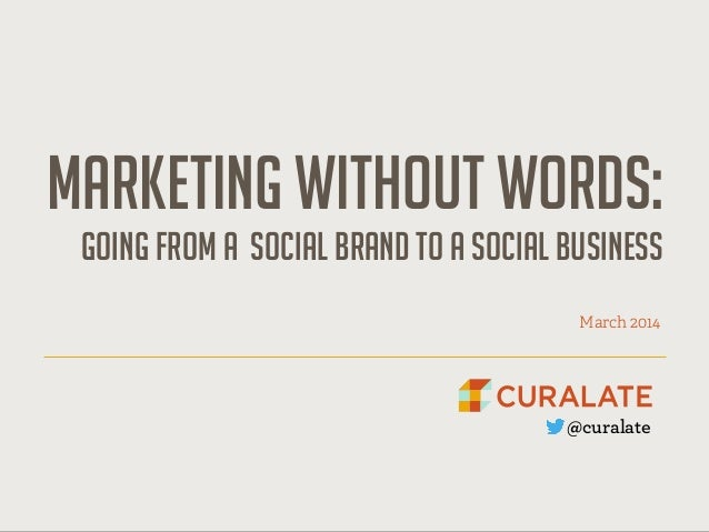 Marketing without words:
