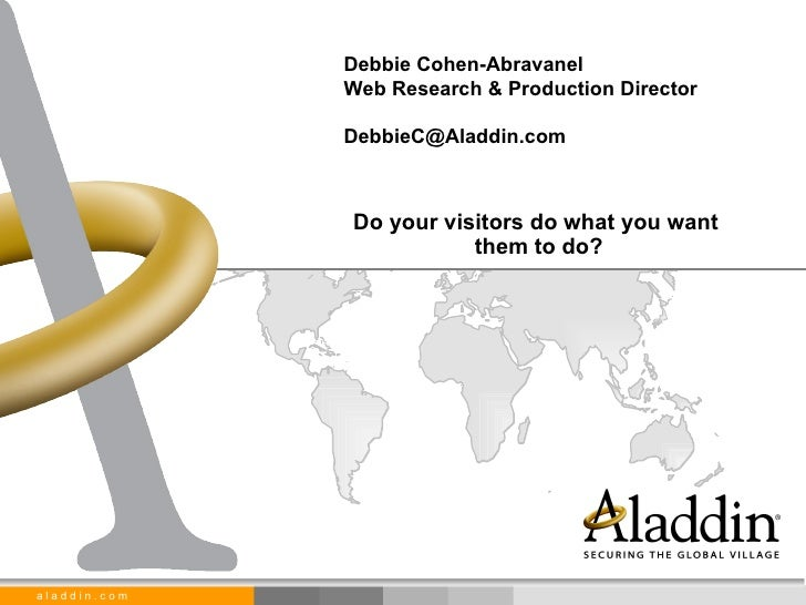 Debbie Cohen Abravanel  Do Your Visitors Do What You Want Them To Do
