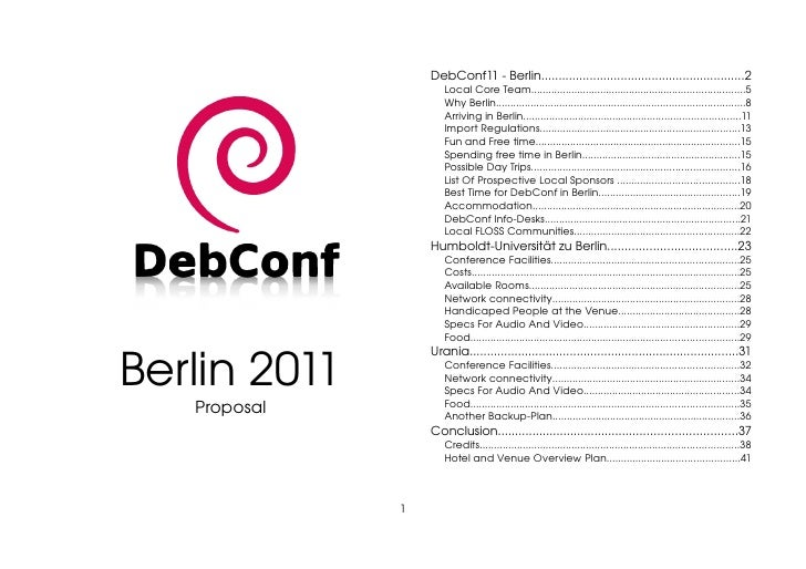 DebConf11 Berlin Proposal