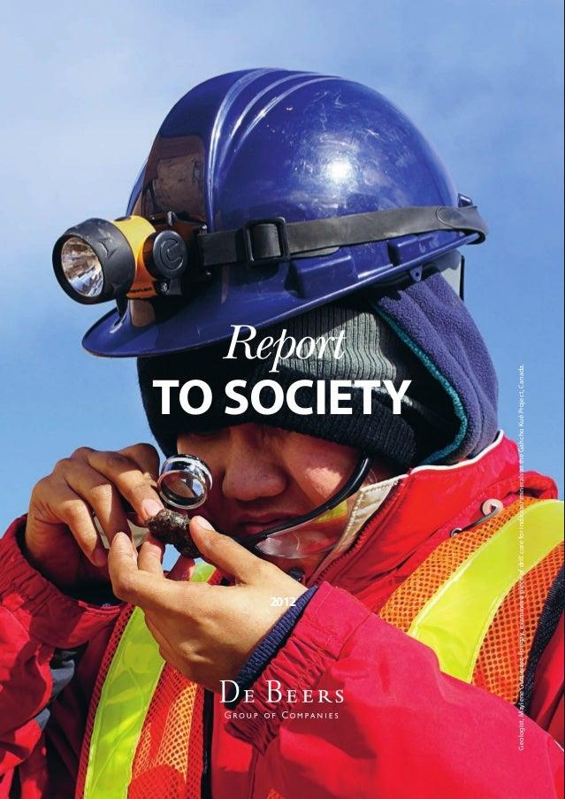 De Beers - Report to Society 2012