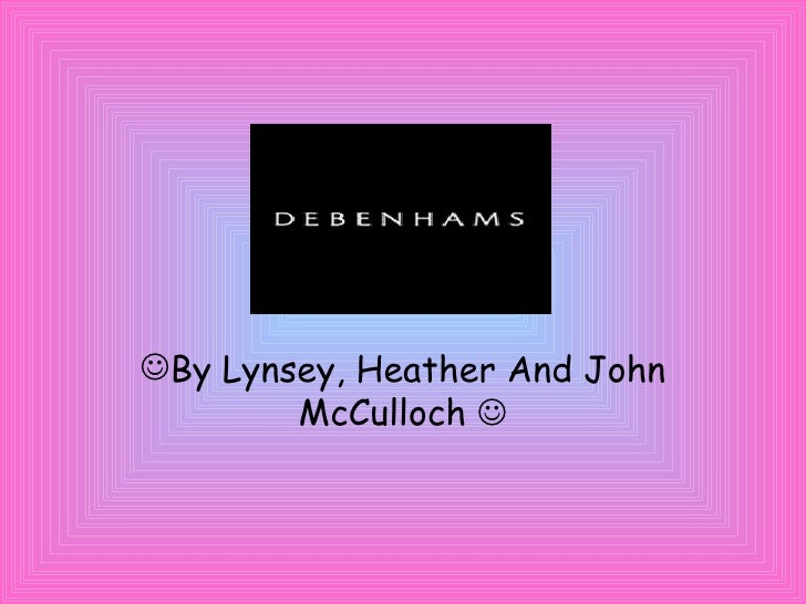 Debenhams Lynsey, Heather And John Mc Culloch
