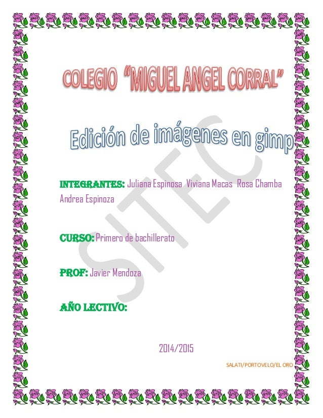 Integrantes: Juliana Espinosa Viviana Macas Rosa Chamba  Andrea Espinoza  Curso: Primero de bachillerato Prof: Javier Mend...