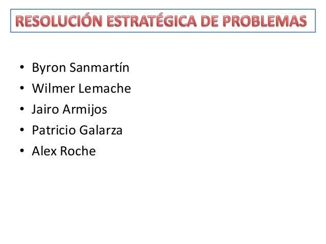 • Byron Sanmartín• Wilmer Lemache• Jairo Armijos• Patricio Galarza• Alex Roche