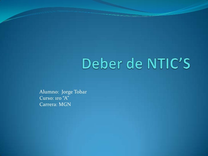 Deber de ntic_s