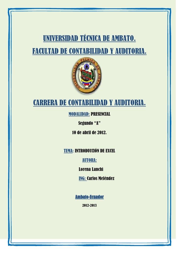 UNIVERSIDAD TÉCNICA DE AMBATO.FACULTAD DE CONTABILIDAD Y AUDITORIA.CARRERA DE CONTABILIDAD Y AUDITORIA.            MODALID...